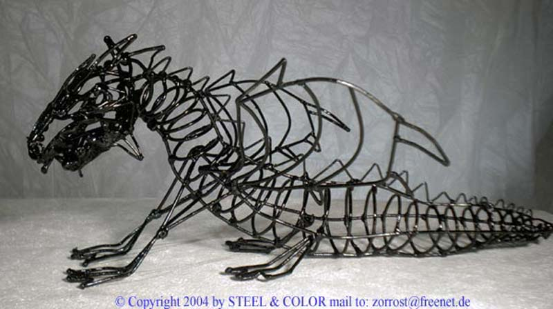 Steel And Colour Dragons Contemporary Steel Plastics Of